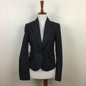 Banana Republic Checked Long Sleeve Blazer Jacket